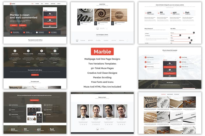 Thumbnail for Marble - Multipurpose MUSE Template