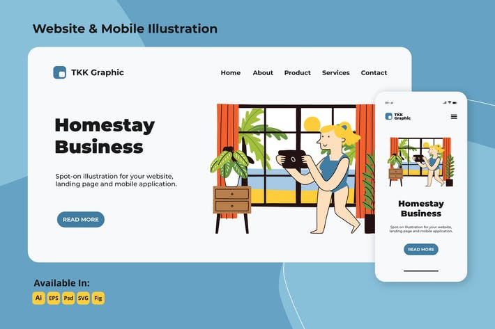 Cover Image For Homestay business in summer web and mobile