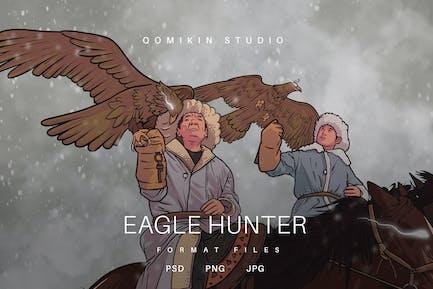 Eagle Hunter Illustration
