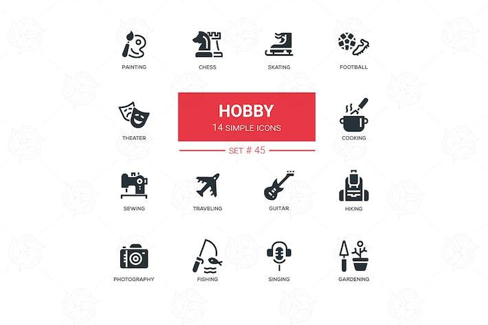 Thumbnail for Hobby - line design icons set
