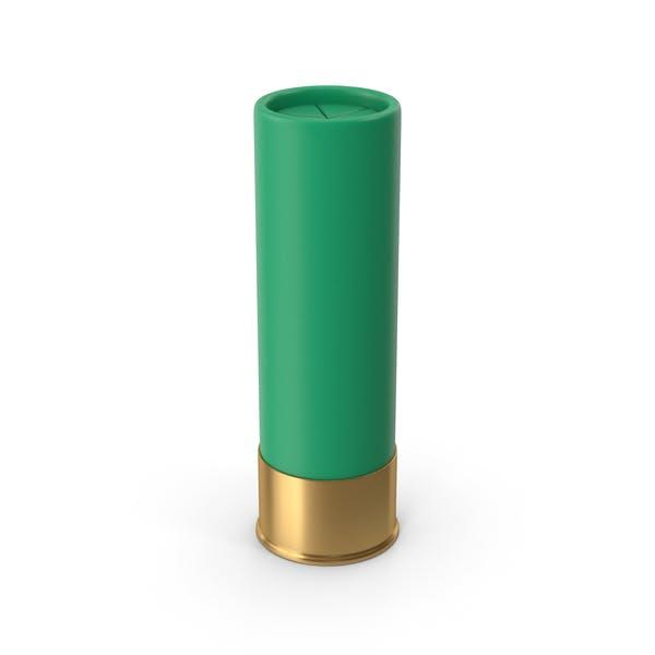 Cartucho de escopeta verde