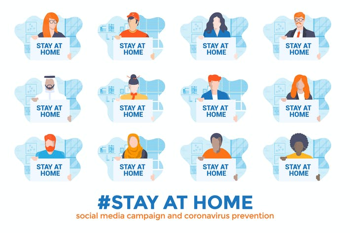 Thumbnail for Stay at home awareness social media campaign