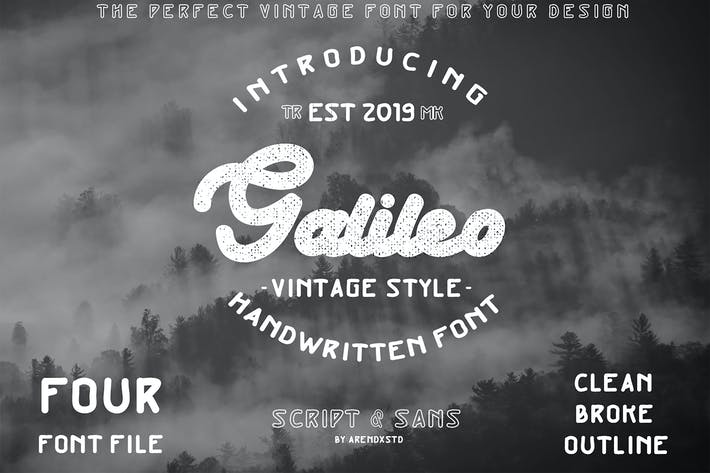 Thumbnail for Galileo Vintage Font