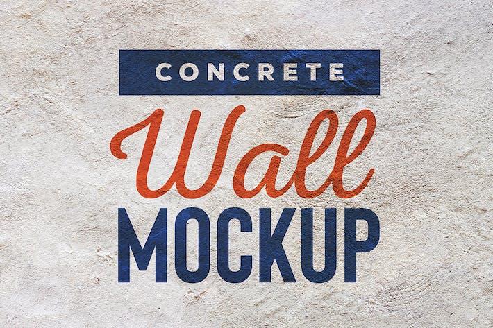 Concrete Wall Mockup