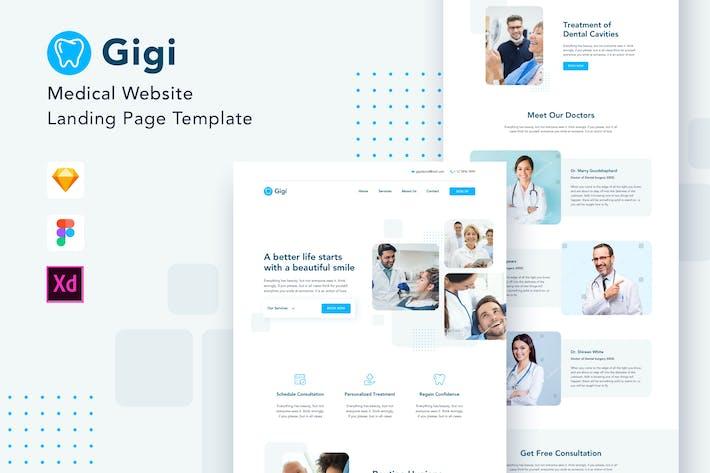 Thumbnail for Gigi - Medical Website Landing Page