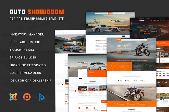 Thumbnail for Auto Showroom - Car Dealership Joomla Template