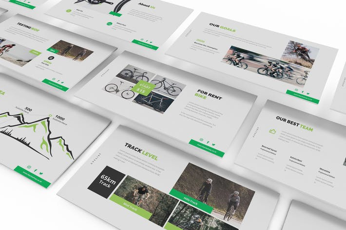 Thumbnail for Bicycle Google Slides Presentation Template