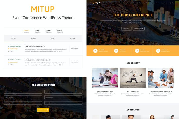 Thumbnail for MitUp - Event & Conference WordPress Theme