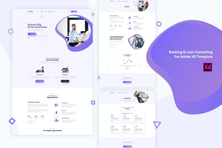 Thumbnail for LoanAg-Banking & Loan For Adobe XD template