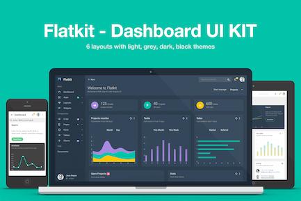 Flatkit - Наборы пользовательского интерфейса панели