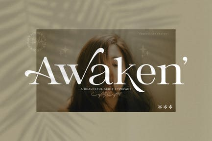 Despertar - Fuente Casual Con serifa