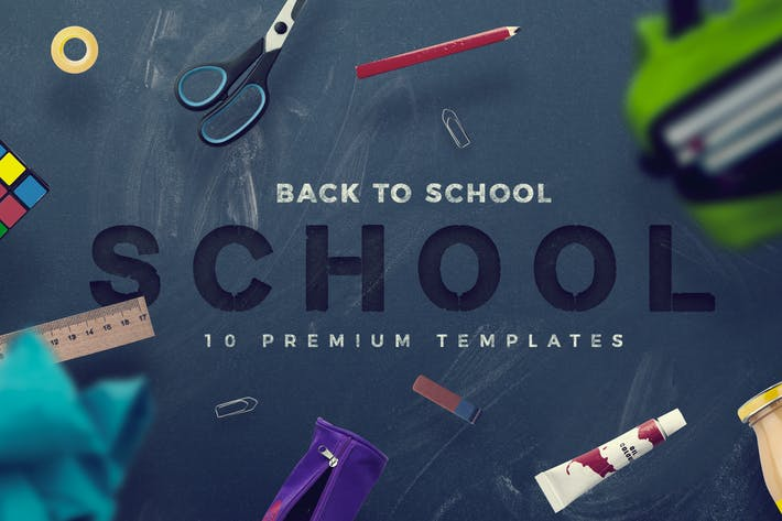 Thumbnail for Back To School - 10 Premium Hero Image Templates