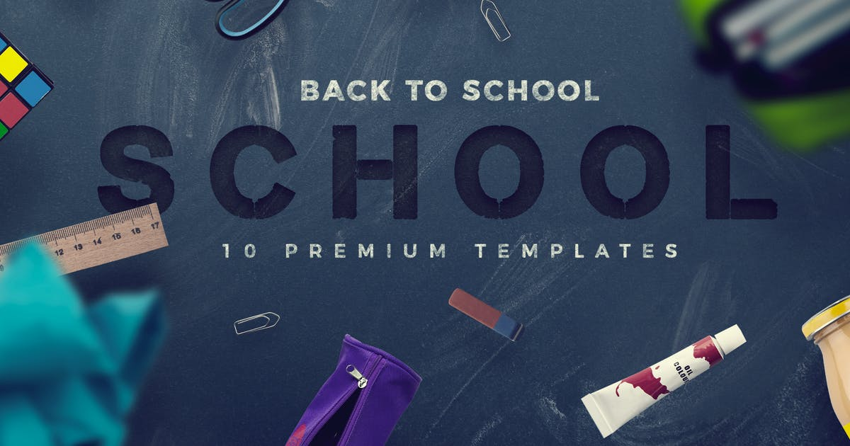 Download Back To School - 10 Premium Hero Image Templates by CreativeForm