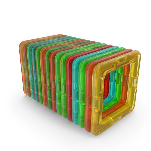 Magnetic Designer Toy Foursquares Set