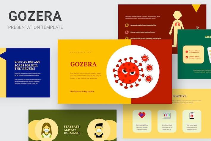 Gozera - Инфографика для здравоохранения Powerpoint