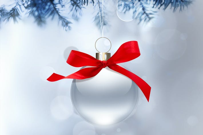 Thumbnail for silver christmas background with ball