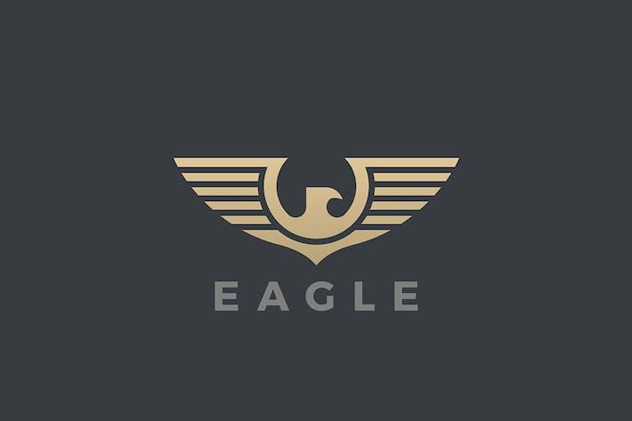 Thumbnail for Logo Aigle Faucon Ailes Style Héraldique Design