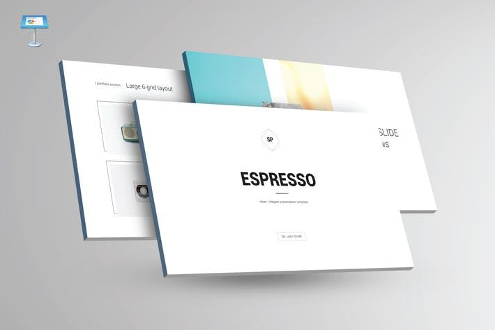 Thumbnail for ESPRESSO - Multipurpose Keynote Template V24
