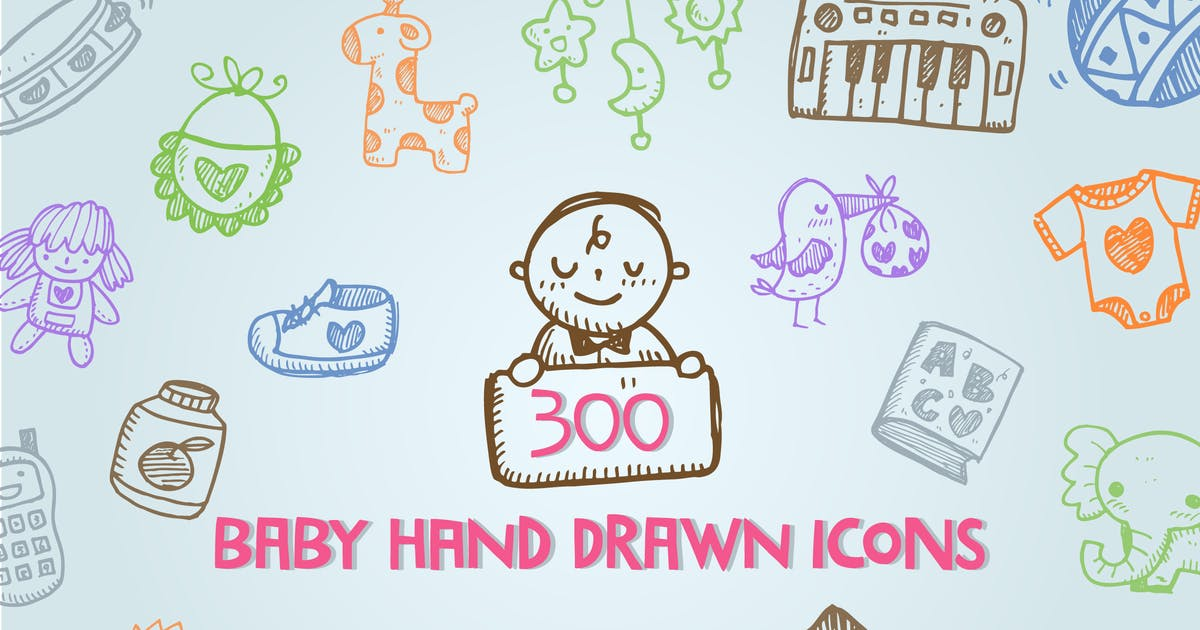 Download Baby  Hand Drawn Icons by iconsoul