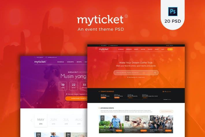 Thumbnail for MyTicket - an Event Theme PSD