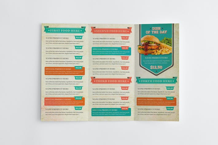 Thumbnail for Vintage Food Menu Template