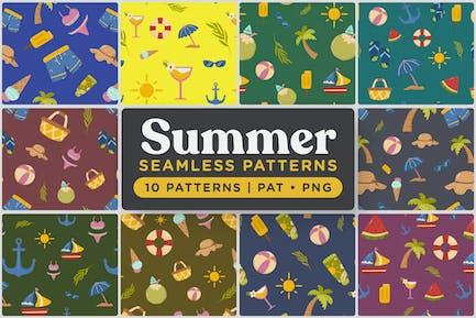 Verspielte Sommer nahtlose Muster