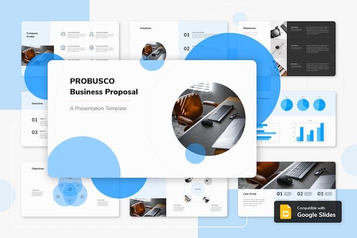 Thumbnail for PROBUSCO - Бизнес Google слайд Шаблон