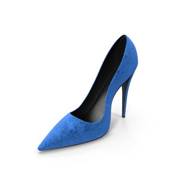 Women's Right Blue Suede Shoe