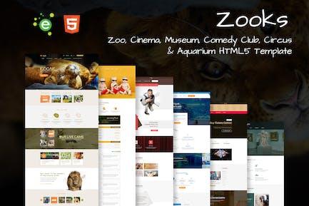 Zooks - 6 in 1 Multipurpose HTML5 Template