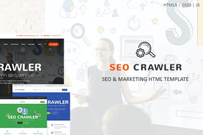 Thumbnail for SEO Crawler - Digital Marketing Agency HTML Templa