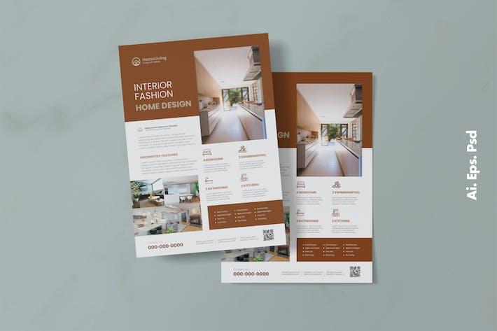 Thumbnail for Interior Design Flyer Design