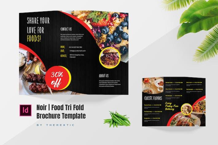 Noir   Food Tri-Fold Brochure Template Design