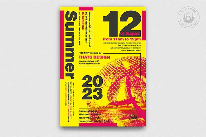 Thumbnail for Minimal Summer Flyer Template V1