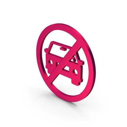 Symbol No Car Metallic