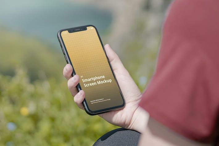 Thumbnail for Phone Mockup Mountain Hiking Scenes 2