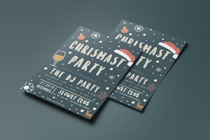 Thumbnail for Рождественская вечеринка Флаер 02