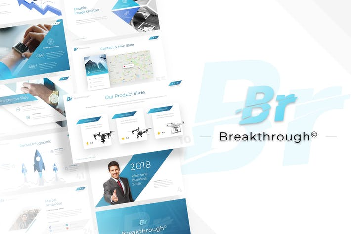 Cover Image For Breakthrough - Business Powerpoint Template