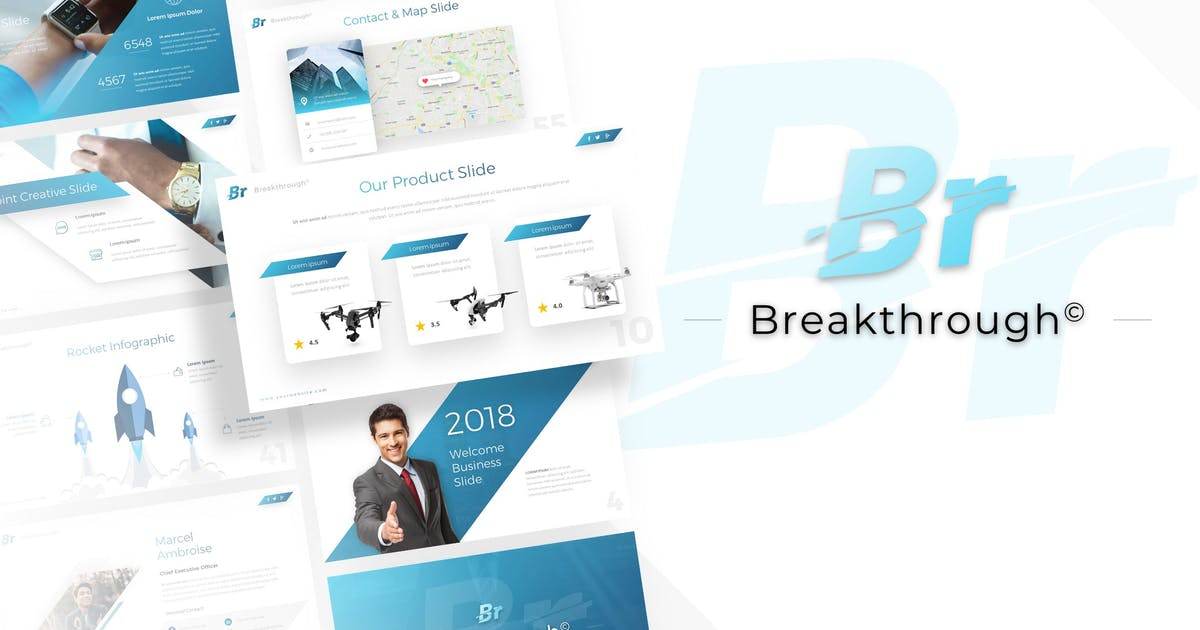 Download Breakthrough - Business Powerpoint Template by RRgraph