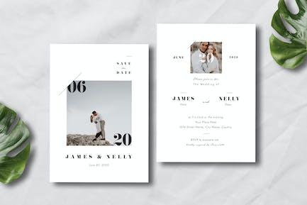 Simple Wedding Invitation 01