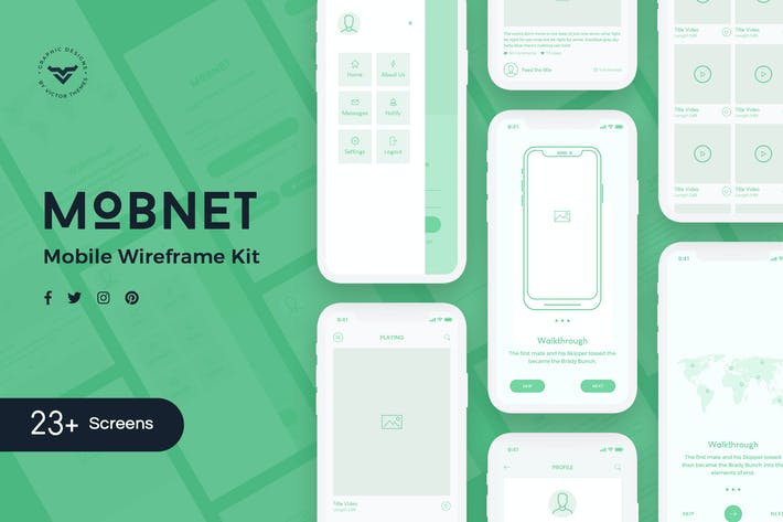 Thumbnail for Mobnet Mobile Wireframe Kit
