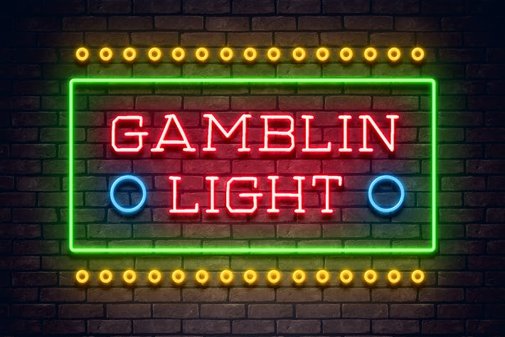 Gamblin Light Neon Font Color blanco