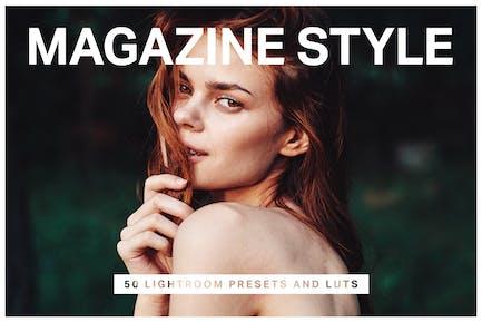 50 Magazine Lightroom Presets & LUTs