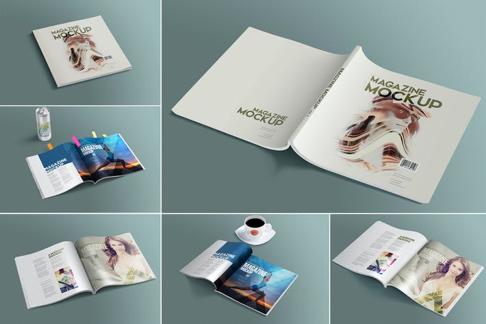 Thumbnail for Open & Close Magazine Mockups