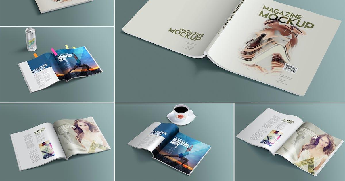 Download Open & Close Magazine Mockups by zippypixels