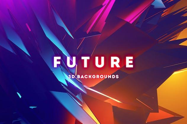 Future - 20 Futuristic 3D Backgrounds