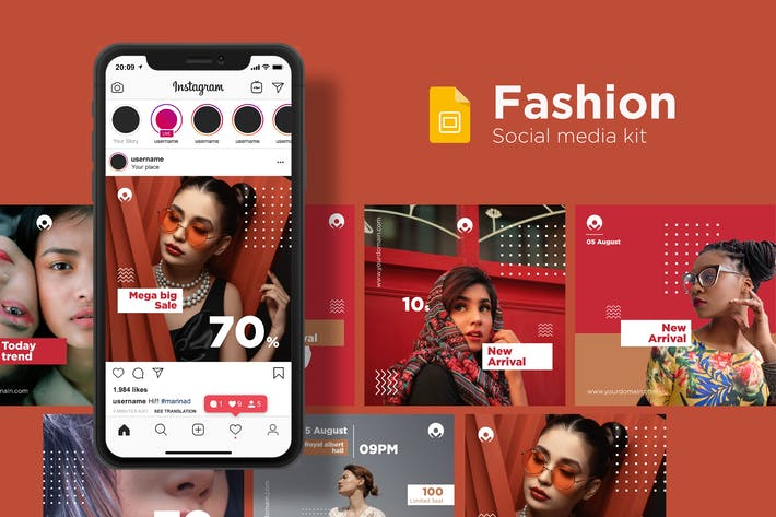 Fashion Social Media Kit - Google Slides