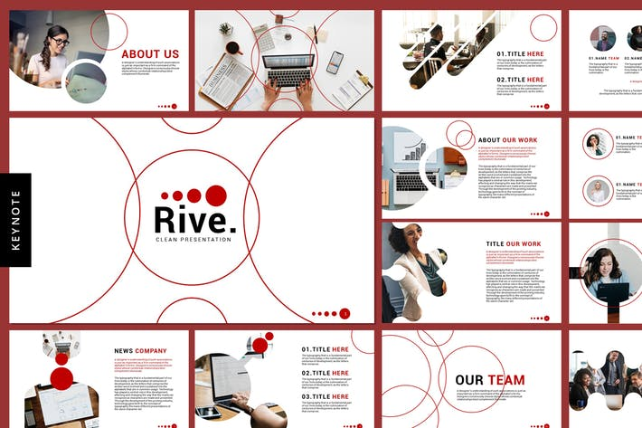 Thumbnail for Rive - Business Keynote Templates