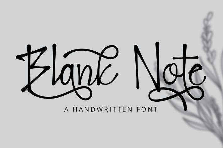 Thumbnail for Blank Note - Ink Handwritten