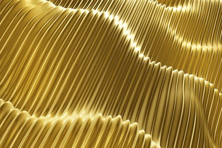 Golden Waves Background