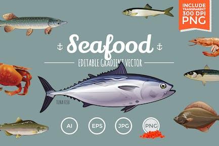 Seafood Vektor Pack